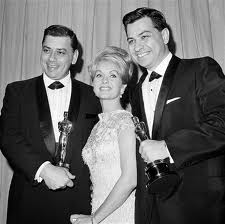 Robert and Richard Sherman with Debbie Reynolds